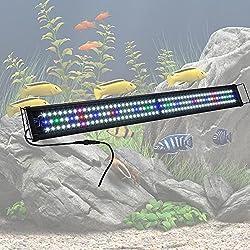 "Yescom 48"" Multi-Color 156 LED Bulbs Aquarium Light Lamp for Freshwater Marine 45""-50"" Fish Tank"