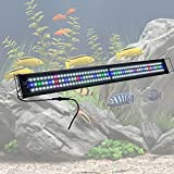 Yescom 48'' Multi-Color 156 LED Bulbs Aquarium Light Lamp for Freshwater Marine 45''-50'' Fish Tank