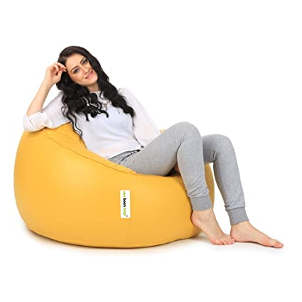 Can Mudda Bean Bag Chair Without Beans (Yellow); XL