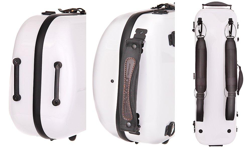 Tonareli Violin Oblong Fiberglass Case- VNFO 1000 White 4/4 by Tonareli Music Supply (Image #6)