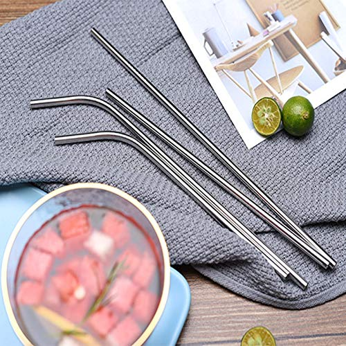 Metal Straws, Stainless Steel Straws, Reusable Drinking Straws, 10.5 Inch Metal Drinking Straw For 20 Oz And 30 Oz Tumblers Cups Mugs, Cleaning Brush Included by Bbdou