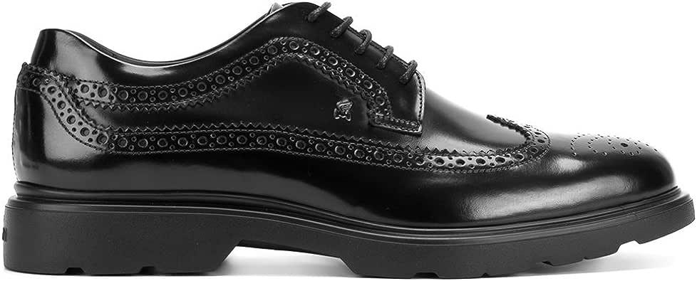 حذاء رجالي من HOGAN موديل HXM3040W3626Q6B999 أسود من الجلد برباط