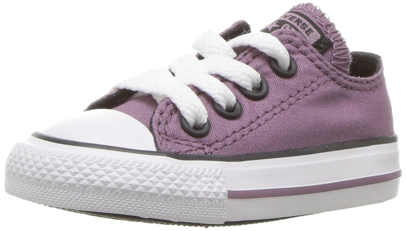 Converse Boys' Chuck Taylor All Star 2018 Seasonal Low Top Sneaker, Purple/Multi, 6 M US Toddler