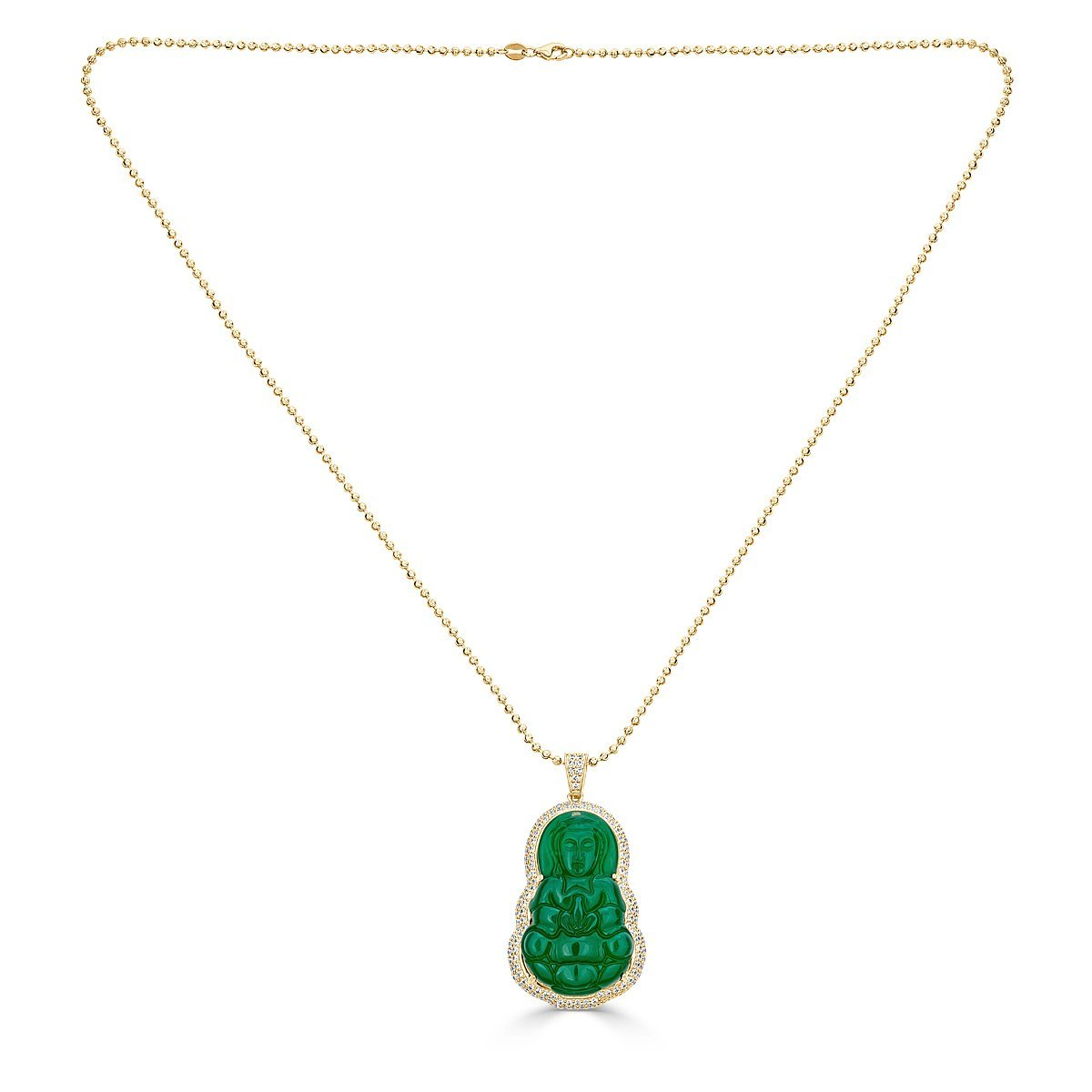 Gold Plated Sterling Silver Buddha Necklace by Caratina