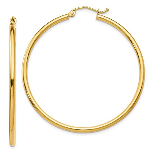 bd296bdf7da0 Hielo quilates 14 K amarillo oro ligero tubo aro pendientes Set de aros de  oído redondo Classic fina joyería Set de regalo para las mujeres Corazón   ICE ...