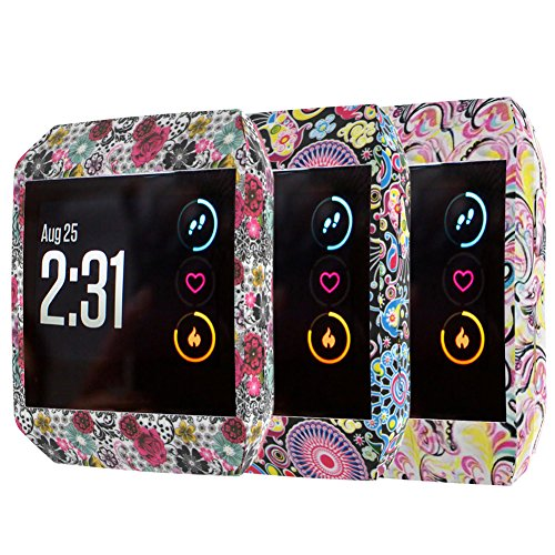 XiangMi Compatible Fitbit Ionic Case,Soft Colorful DIY Silicone Accessories Protective Frame Shockproof Cover Shell Compatible Fitbit Ionic SmartWatch