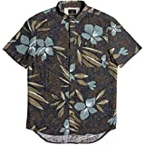 Quiksilver Men's Short Sleeve Linen Print Shirt, Chocolate Linen, M