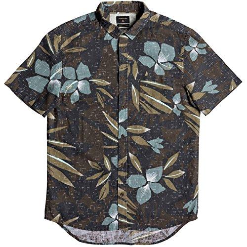 Quiksilver Men's Short Sleeve Linen Print Shirt, Chocolate Linen, M by Quiksilver
