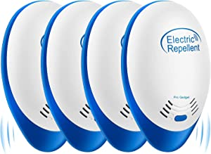 Ultrasonic Pest Repeller - Pest Control Set of 4-Packs Electronic Plug in Repellent Indoor for Flea,Insects,Mosquitoes,Mice,Spiders,Ants,Rats,Roaches,Bugs,Non-Toxic,Humans & Pets Safe