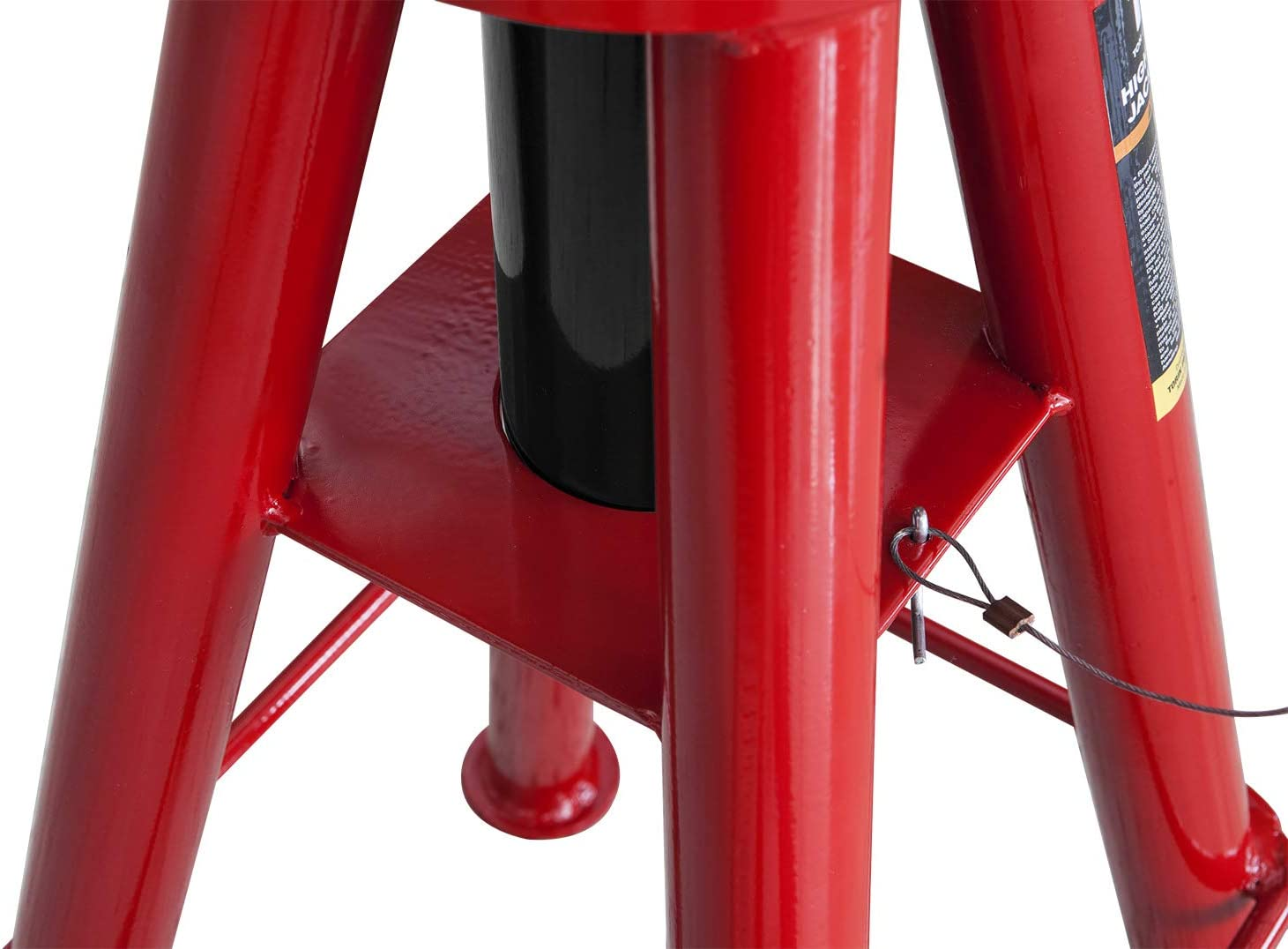 BIG RED T90106 Torin Heavy Duty Steel Jack Stands with Locking Support Pins: High Height 20,000 lb 1 Pair Red//Black Capacity 10 Ton