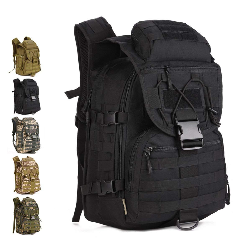 JohnJohnsen Viajes al Nylon Durable Unisex al Viajes Aire Libre Militar del ejército morral táctico Trekking Mochila de excursión Que acampa Trekking Bolsa de Hombro (Digital Bosque) 12c1b5