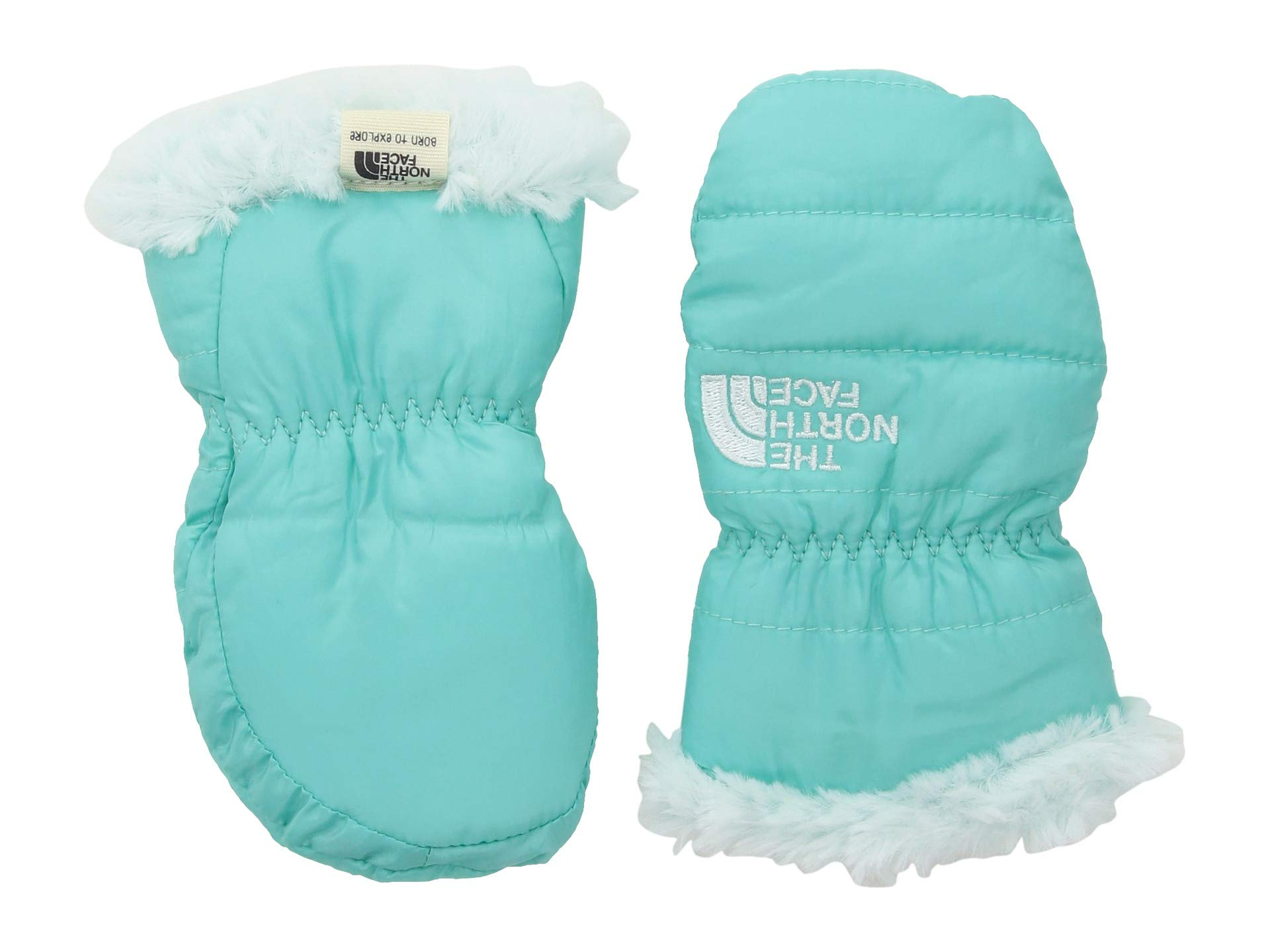 The North Face Baby Reversible Mossbud Swirl Mitt - Mint Blue & Origin Blue - XXS by The North Face