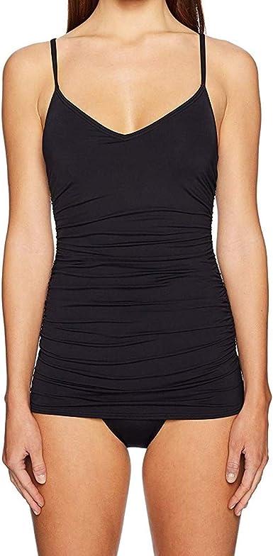 Vince Camuto Womens Draped Swim Dress One Piece Swimsuit