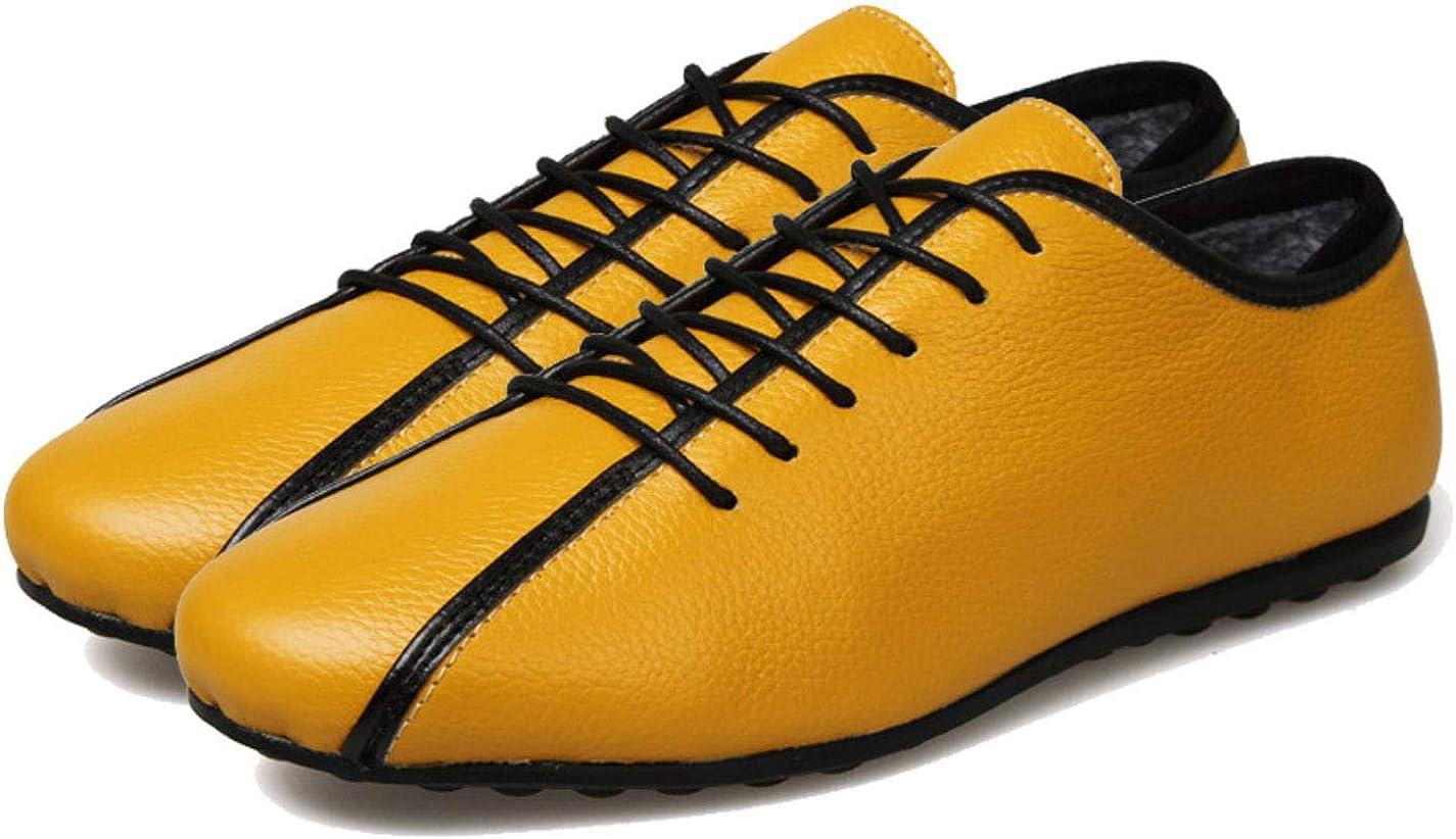 Comfortable lace mens flat shoes