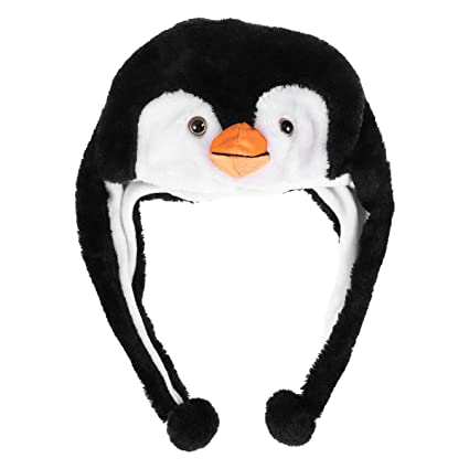 a30ecadf7ad Image Unavailable. Image not available for. Color  LUOEM Adorable Animal Hat  Plush Winter Ski Style Hat Cartoon Earflap Cap Hood for Children Adults