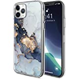 iPhone 11 Pro Max Case Slim Lightweight Graceful,Black Gilded Marble Pattern,Clear Soft TPU Bumper & Hard Back Design for iPh