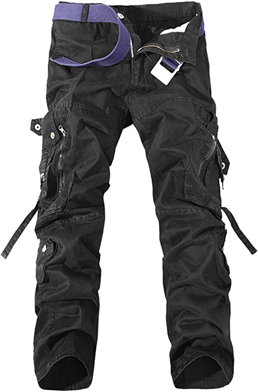 Cargo Pants Cool Casual Cotton Trousers Men/'s Fit Winter Combat Long Work Mens