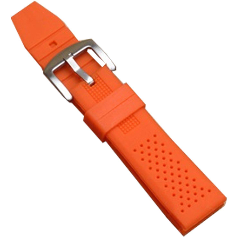 新しいオレンジSilicone Rubber Diver Watch Band防水スポーツバックル16 mm 18 mm 16mm オレンジ  16mm B074DZMBQ2