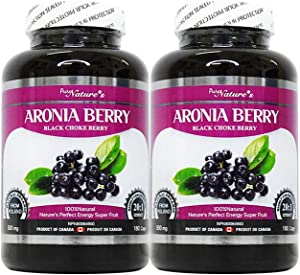 PNC Two Bottles of Aronia Berry - Black Choke Berry - Super Food X20 High-enriched Polish for Immune Health - Healthcare Supplement - Support for Immune System - 180 Caps