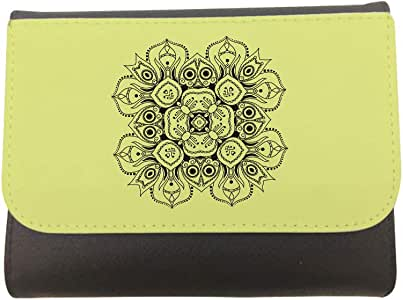 Decorative Drawings - Rose Printed CaseWallet made of Leather, 14cm X 11cm