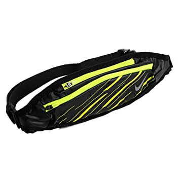 b27b523d73 Nike Capacity Waistpack Hip Pocket, Black/Volt/Silver, 0: Amazon.co ...