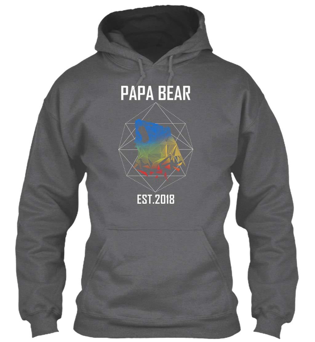 Papa Bear Est 2018 Geometric Dad 8oz Heavy Blend Shirts