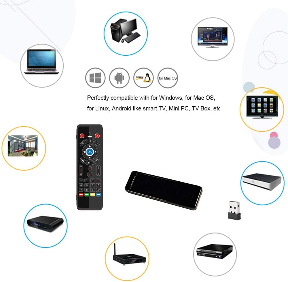 Calvas T16 Smart Remote With Backlight 2.4G Air Mouse Wireless Touchpad Keyboard QWERTY Backlit for Andriod TV Box Projector IPTV