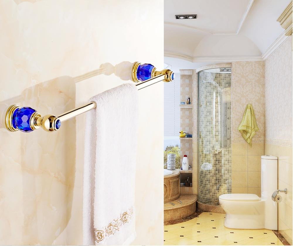 HJKLL-Brass chrome-plated bathroom accessories, antique fashion firm-towel bar, bright brilliance copper sweater , crystal love