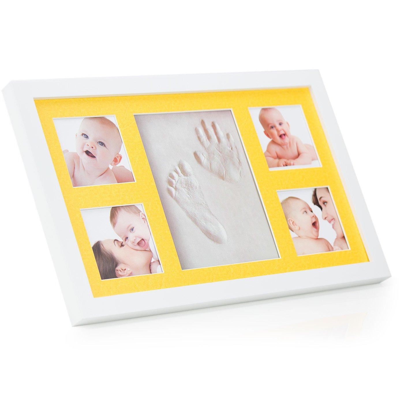 60 gramos Arcilla no agrietada para impresiones perfectas de la huella y mano de tus beb/és Air Dry Clay ELASTICO by Babyboon