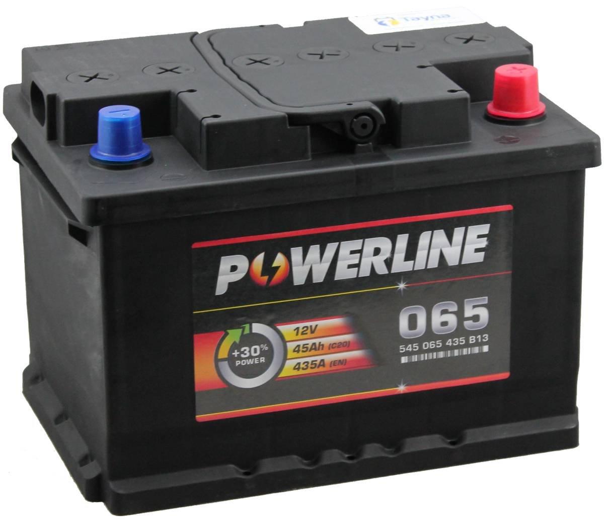 065 Powerline Batterie de Voiture 12V