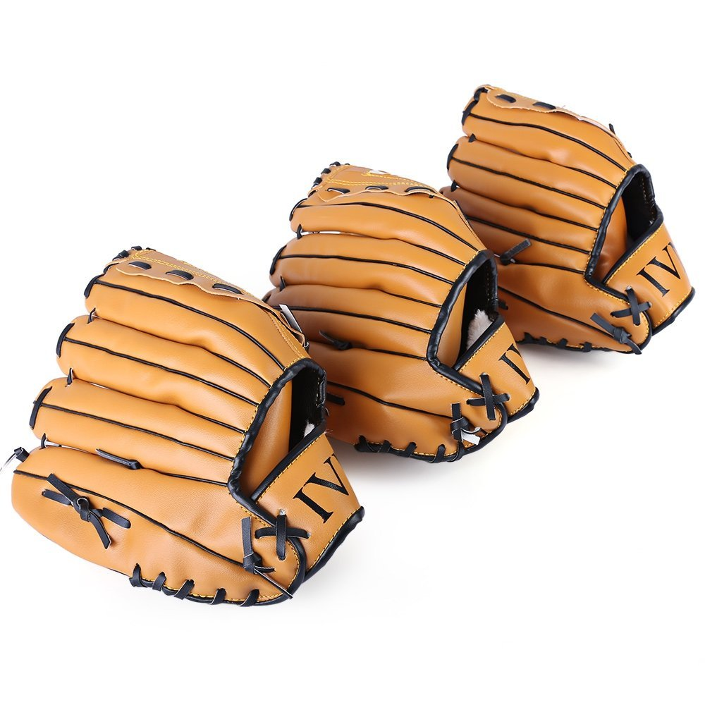 VT BigHome Outdoor Sports Brown Baseball Glove Softball Practice Equipment Size 10.5/11.5/12.5 Left Hand for Adult Man Woman Training