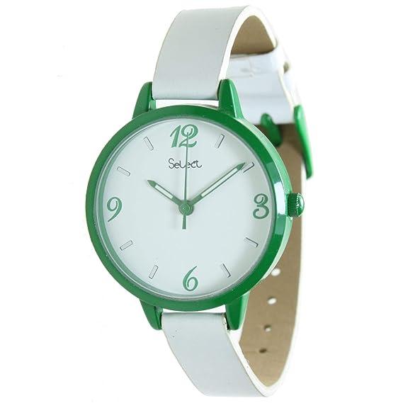Select Tt-08 Reloj Analogico para Mujer Caja De Metal Esfera Color Blanco: Amazon.es: Relojes