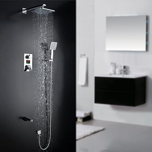 homelody unterputz duschsystem mit lcd wassertemperatur/zeit ... - Regendusche Unterputz