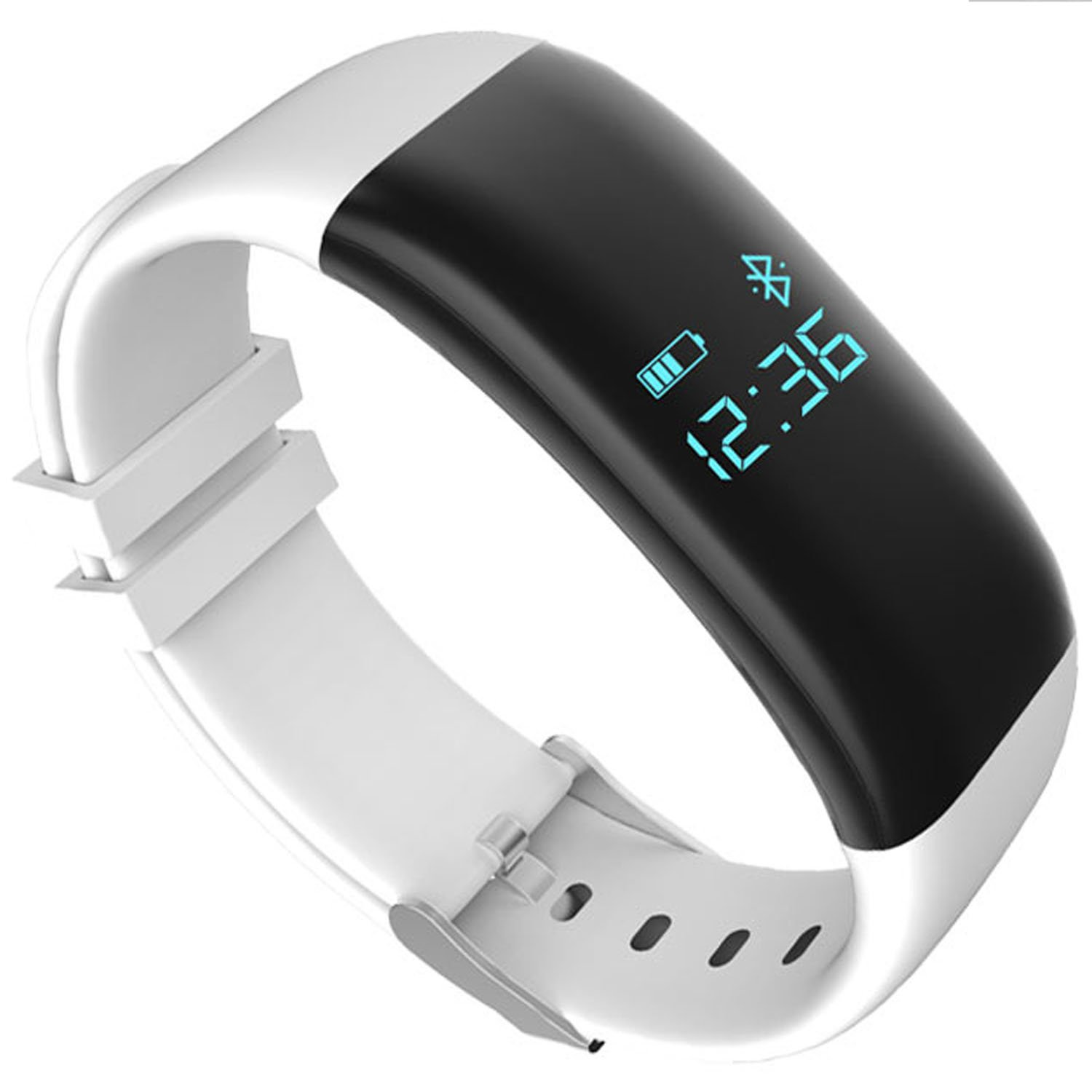Mynike Fitness Tracker Waterproof Smart Bracelet Heart Rate Monitor Wristband Pedometer Step Walking Distance Calorie Counter Smart Watch Fitness Tracker for iOS Android Smartphone (White)