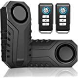 Wsdcam Bike Alarm with Remote 2 Pack, 113dB Wireless Anti-Theft Vibration Motorcycle Bicycle Alarm Waterproof Vehicle…