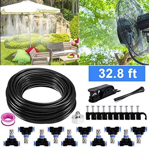 Bearbro Kit Nebulizadores para Terrazas, Sistema de Nebulizacion para Exteriores jardín Pergola, DIY automático riego para Invernaderos, Jardines, Terrazas y Césped(10M): Amazon.es: Jardín