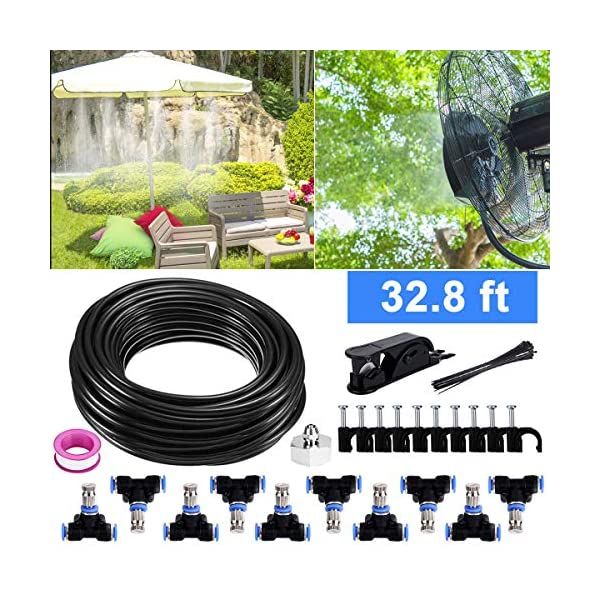 Bearbro Kit Nebulizadores para Terrazas,Sistema de Nebulizacion para Exteriores jardín Pergola, DIY automático riego…