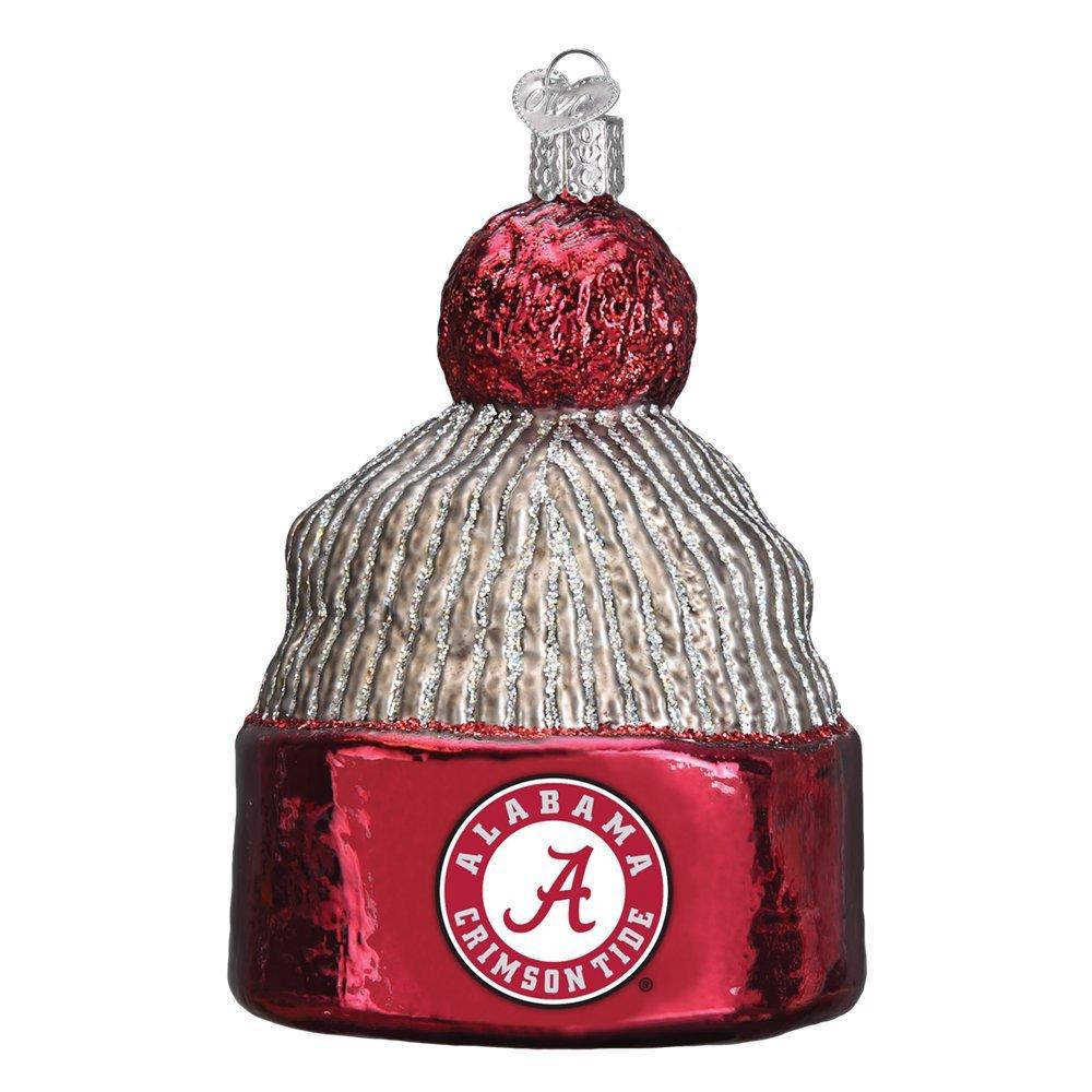 University of Alabama Beanie Glitter Glass Christmas Ornament