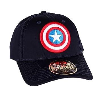 Capitán América Escudo logotipo gorra de béisbol azul Marvel Nyyb3VE