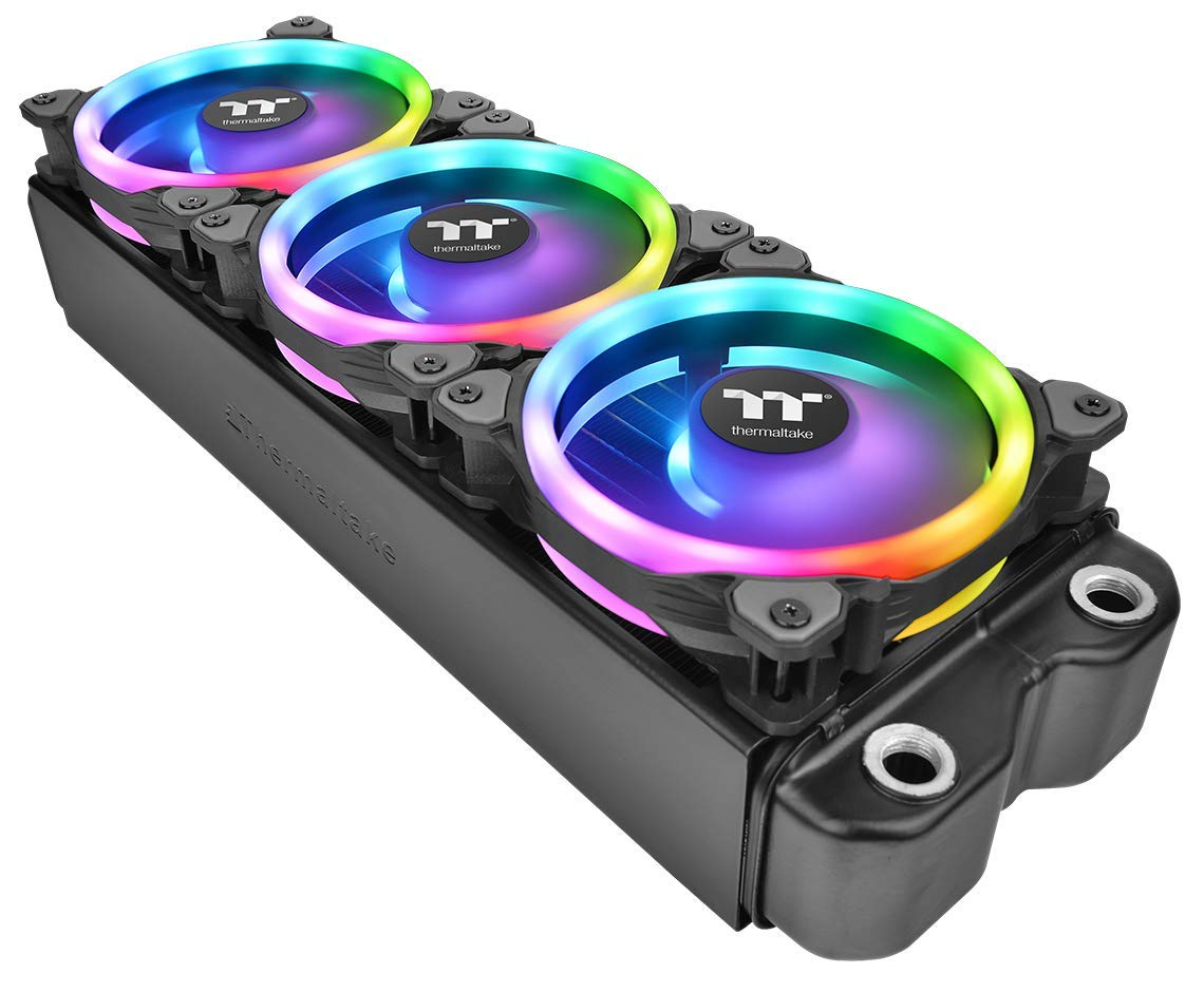 Thermaltake Riing Trio 12 RGB TT Premium Edition 120mm Software Enabled 30 Addressable LED 9 Blades Case/Radiator Fan - 3 Pack - CL-F072-PL12SW-A by Thermaltake (Image #7)