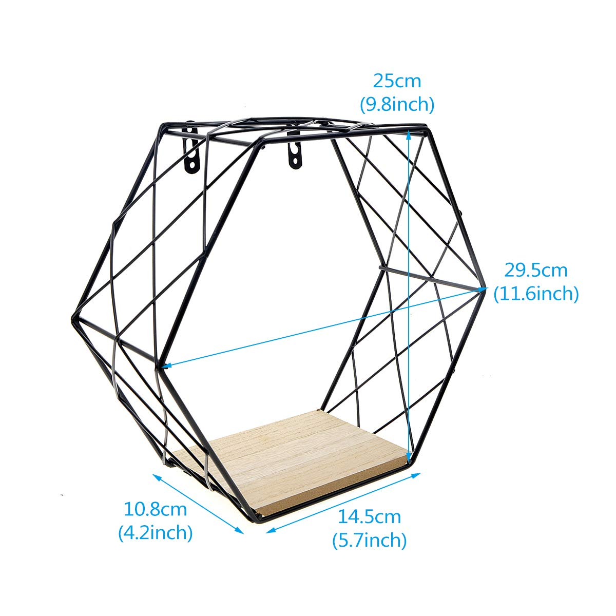 Amazon.com: Saim Floating Shelves Hexagon Wall Mounted Metal ... on how to wire a room, bedroom photography diagram, rewiring a living room diagram, how to diagram a room,