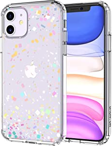 MOSNOVO Colorful Confetti Pattern Designed for iPhone 11 Case - Clear