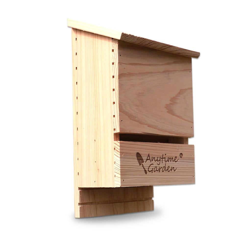Premium Wooden Bat House for Environmentally Friendly Bug Control For Your Garden Anytime Garden