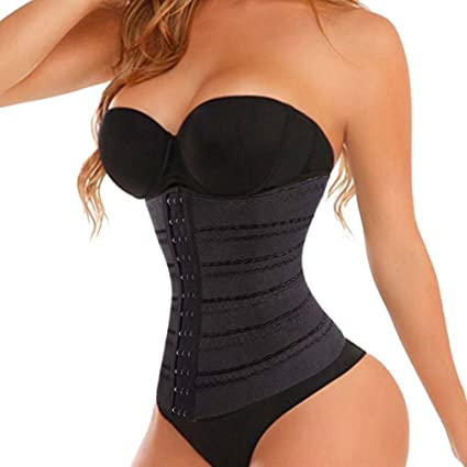 309493b6267 Image Unavailable. Image not available for. Color  FIRSTLIKE Running Shaper  Waist Training Corset Shapewear ...