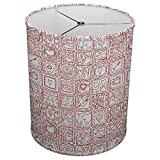 Hardback Linen Drum Cylinder Lamp Shade 8'' x 8'' x 8'' Spider Construction [ Patched Love Hearts ]