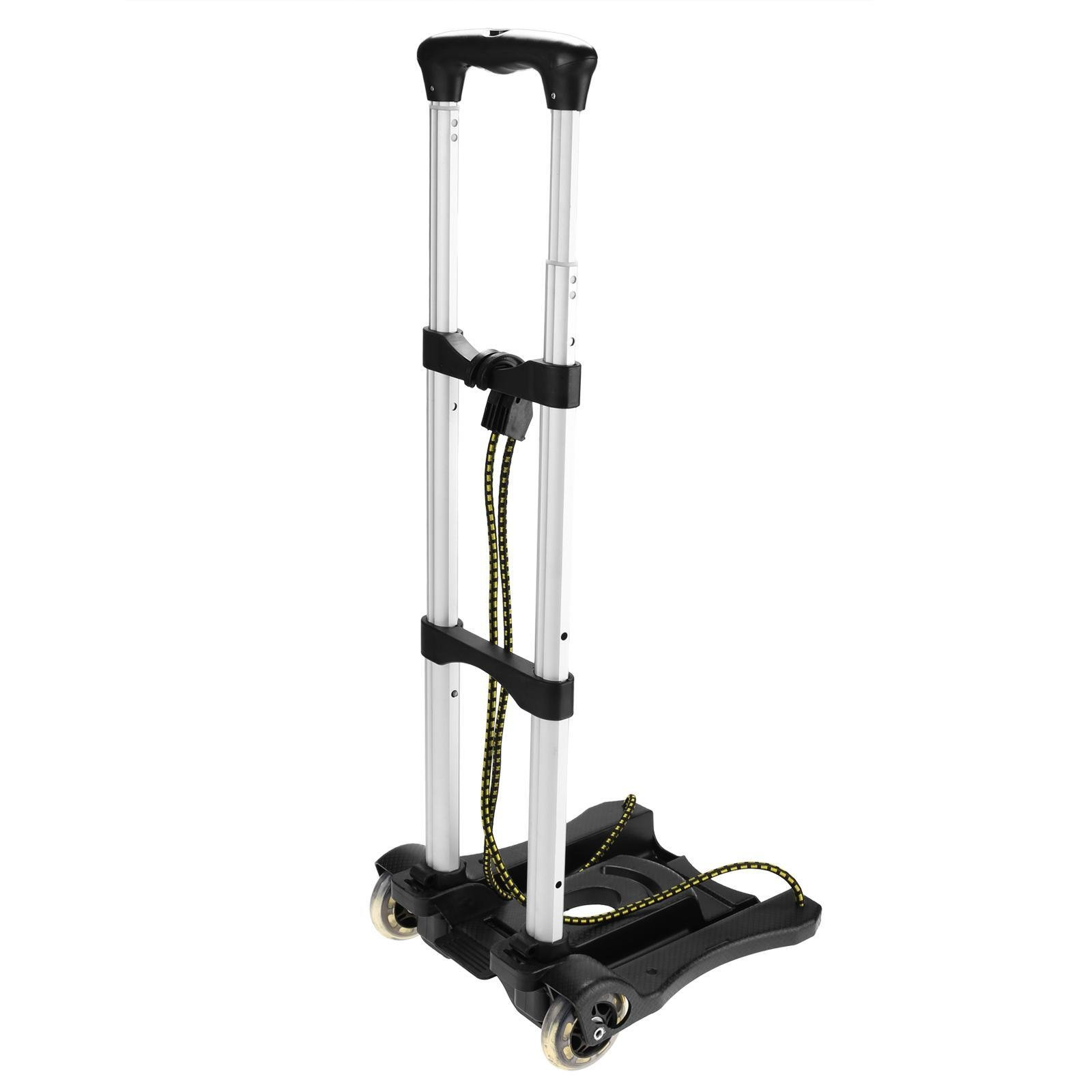 Creine Aluminum Folding Luggage Cart Portable Hand Truck with 2 Wheels, Compact and Lightweight for Shopping Travel Black by Creine (Image #2)