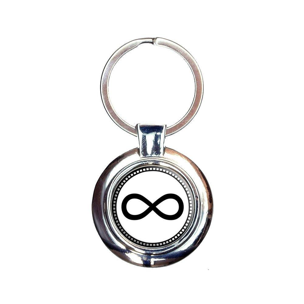 Infinity Symbol Keychain Key Ring