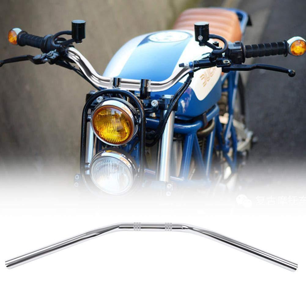 Cromo 22 mm Acero inoxidable 0.9in Barra del manillar de la motocicleta Rastreador del manillar Pieza de repuesto de la barra de arrastre Barra del manillar de la motocicleta