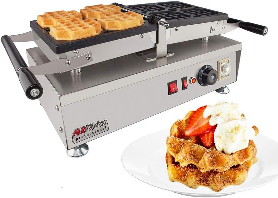 ALDKitchen Swing type BELIGIUM Waffle maker Nonstick Electric Egg Biscuit Roll Maker Machine Bake Machine 4 Waffles