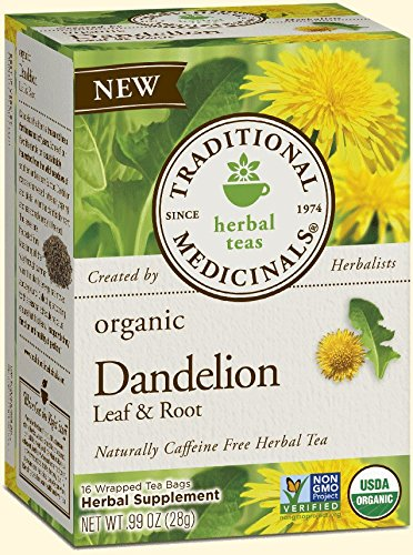 - Traditional Medicinals Tea, Organic Dandelion Leaf and Root Tea, 16 Bags